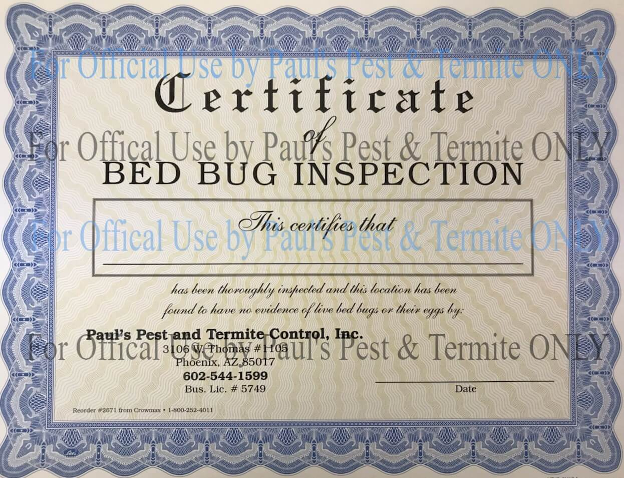 Bed Bug Inspection Paul S Pest Termite Control